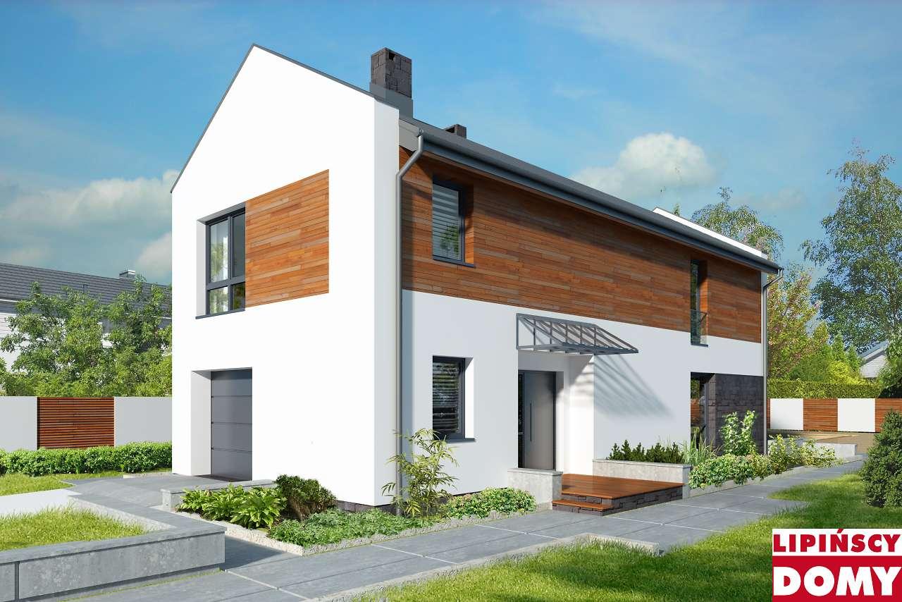 projekt domu na wąską działkę Luton lmp346 Lipińscy Domy