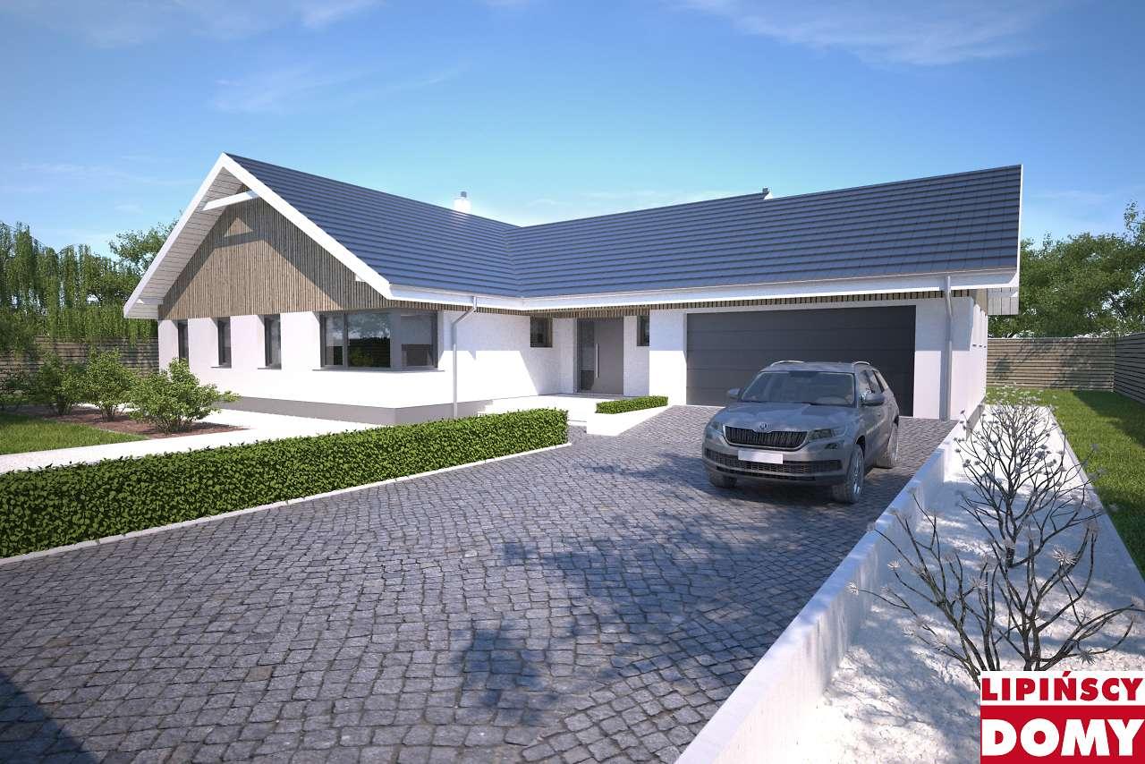 projekt domu parterowego Noordwijk dcb137 biura Lipińscy Domy