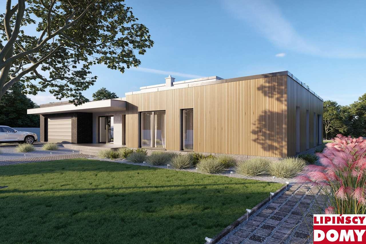 projekt domu nowoczesnego Vitrac II dcb131a z Biura Lipińscy Domy