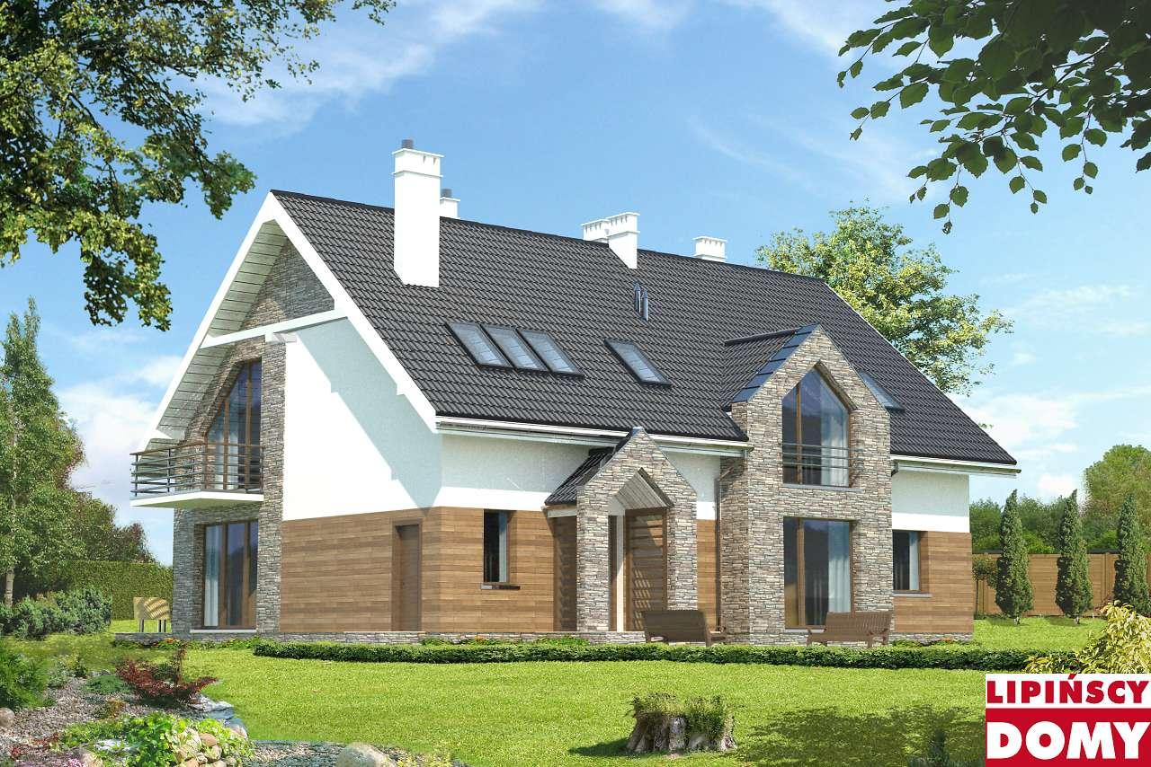 projekt budynku agroturystycznego Dąb lmps02 Lipińscy Domy
