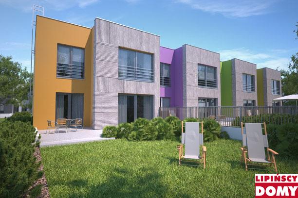 projekt domu szeregowego Springfield II dcs18a z Biura Projektowego Lipińscy Domy