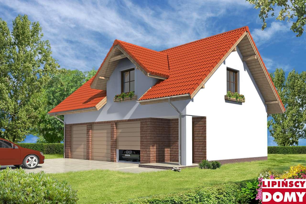 projekt garażu na warsztat samochodowy G37 Lipińscy Domy