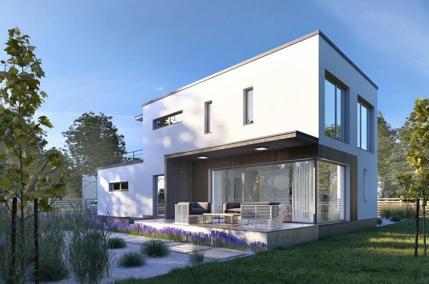 projekt nowoczesnego domu Belfast - Lipińscy Domy