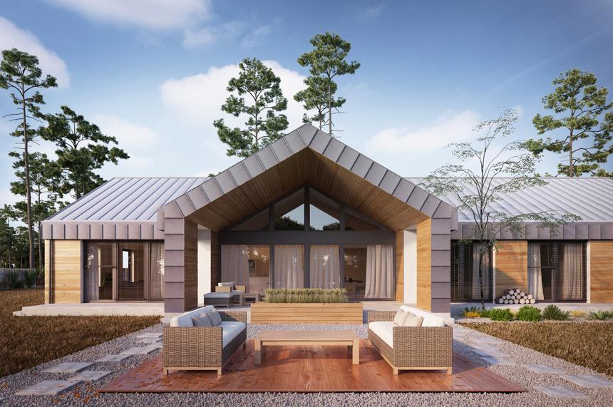 projekt nowoczesnego domu Mindelo - Lipińscy Domy