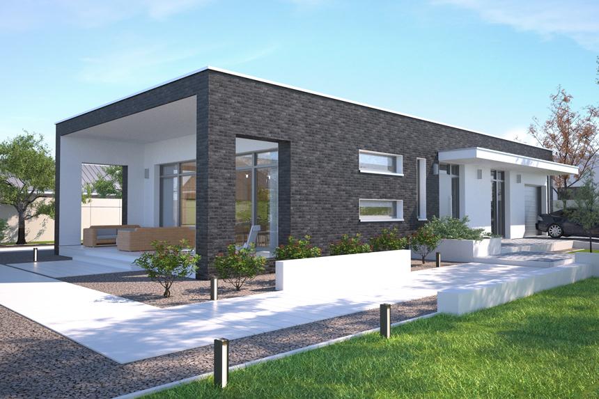 projekt domu parterowego Lancaster II - Lipińscy Domy