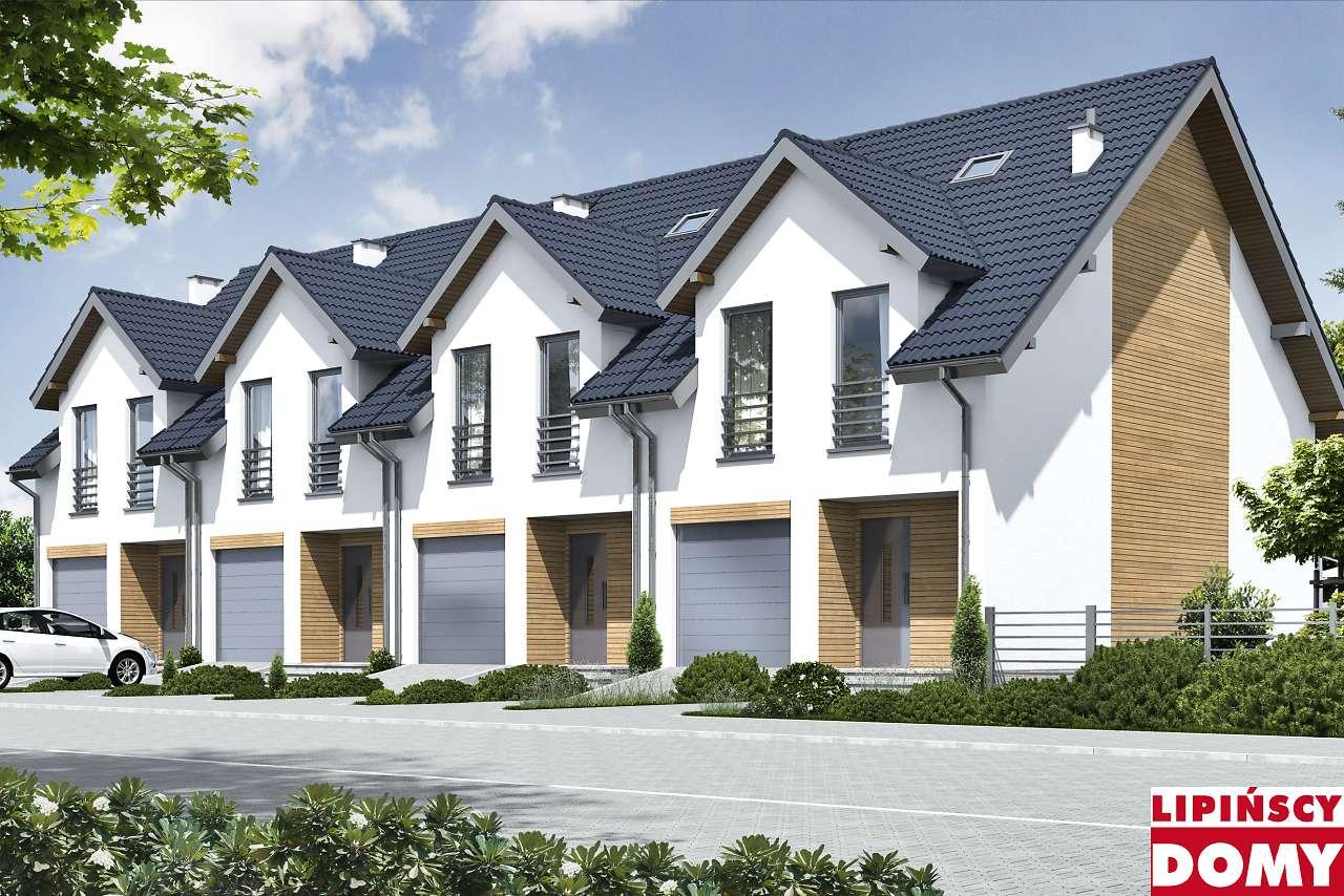 projekt szeregówki Lillehammer lms26 Lipińscy Domy