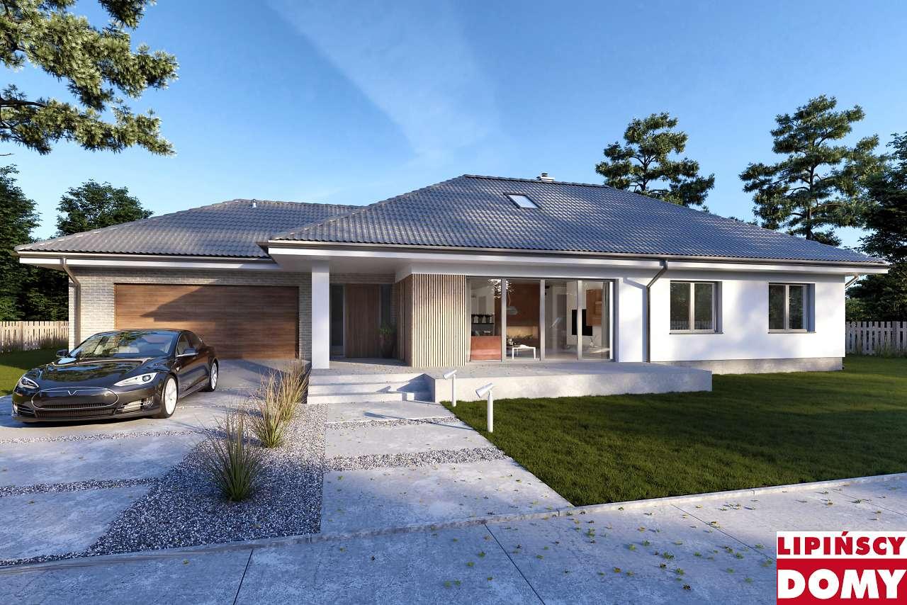 projekt domu Verona dcb124 z wejsciem od południa