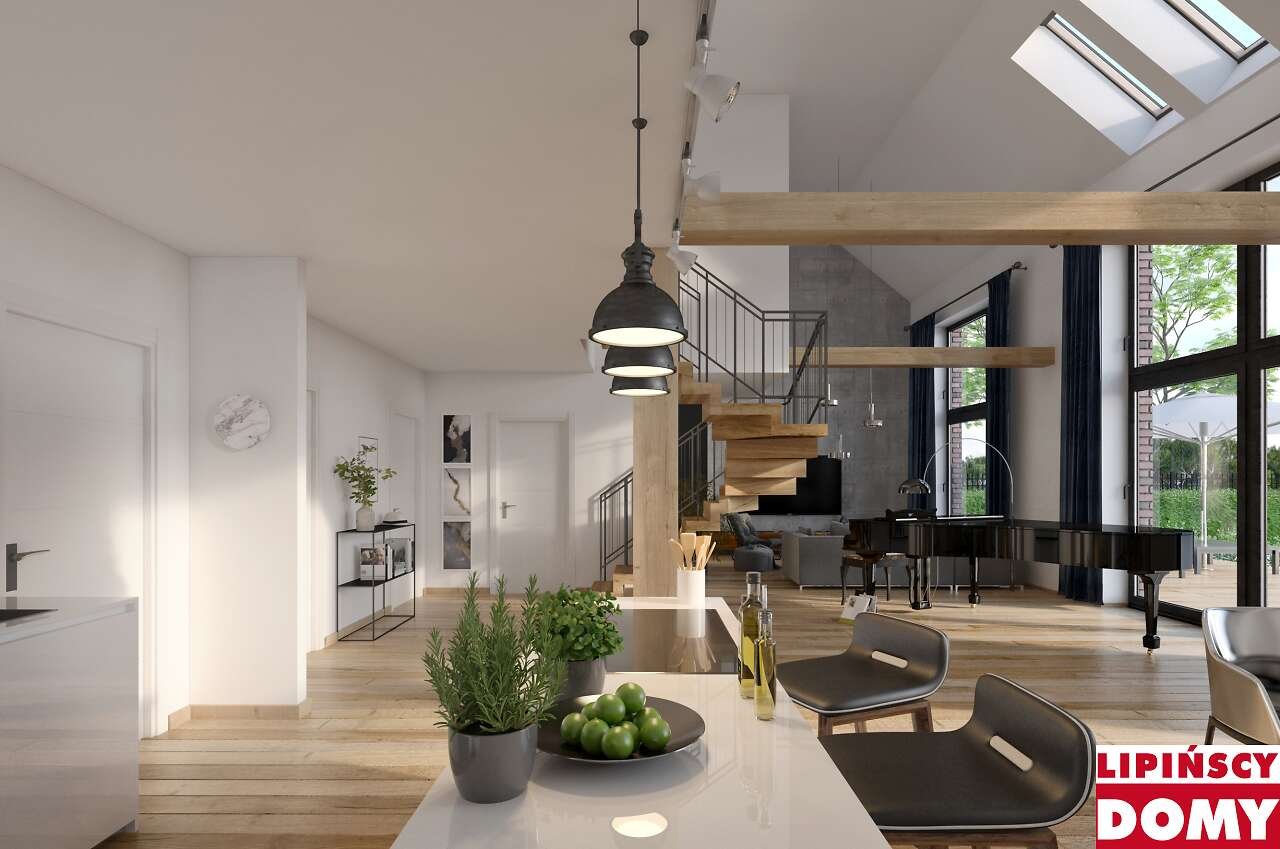 projekt wnętrza domu Lund dcp370 Lipińscy Domy