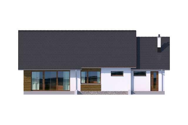 Zobacz powiększenie elewacji ogrodowej - projekt Royan III