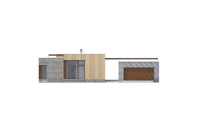 Zobacz powiększenie elewacji frontowej - projekt Villach