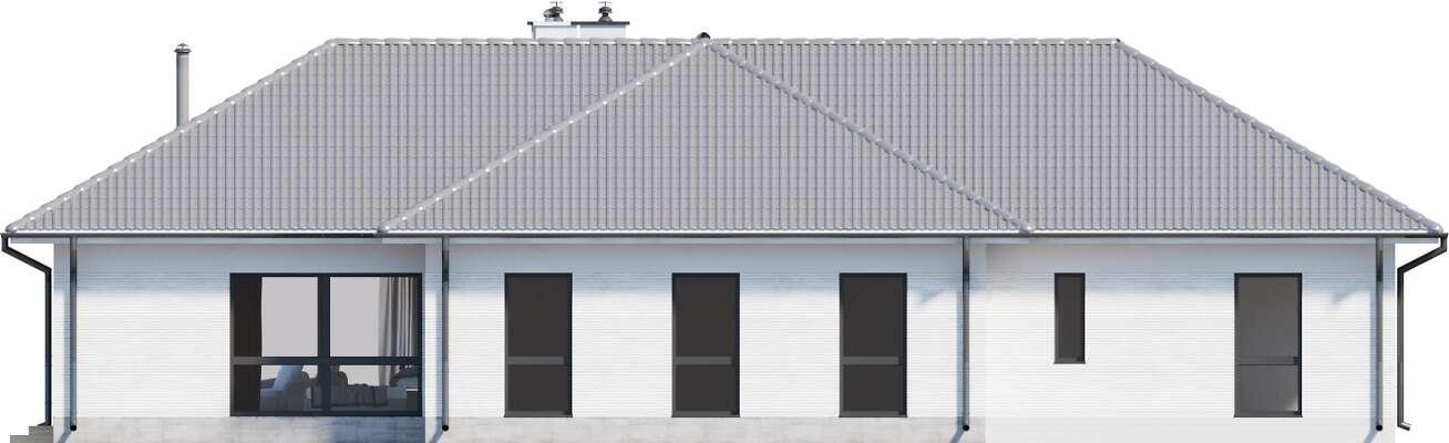 Elewacja boczna lewa - projekt Andora