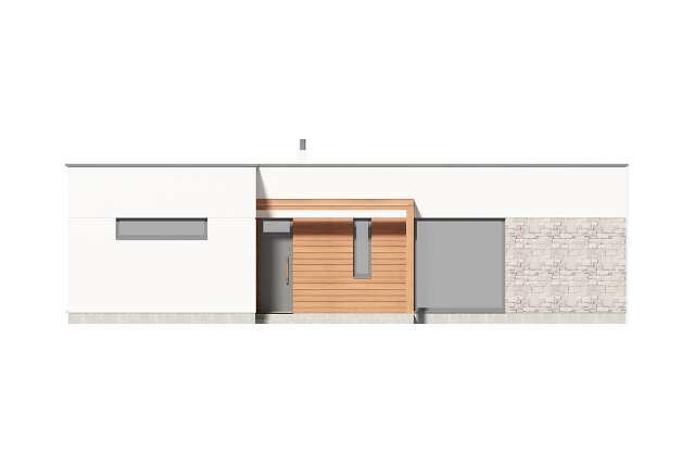 Zobacz powiększenie elewacji frontowej - projekt Ribeira