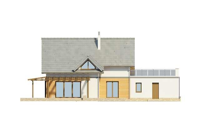 Zobacz powiększenie elewacji ogrodowej - projekt Tokio VI
