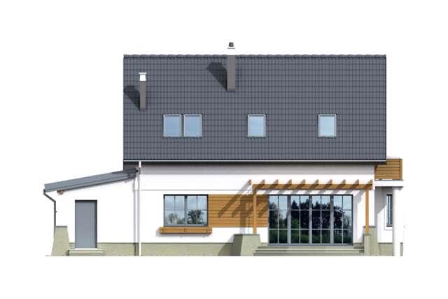 Zobacz powiększenie elewacji ogrodowej - projekt Tacoma IV