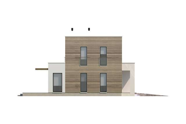 Zobacz powiększenie elewacji bocznej lewej - projekt Newport