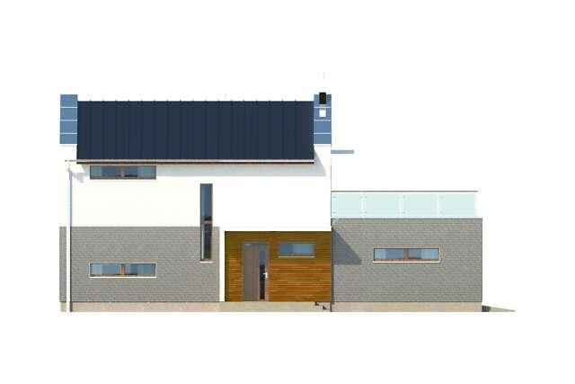Zobacz powiększenie elewacji bocznej lewej - projekt Belfast V