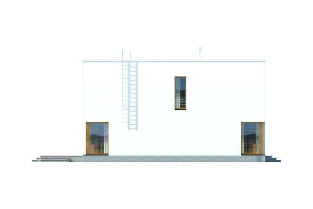 Zobacz powiększenie elewacji bocznej lewej - projekt Tottori