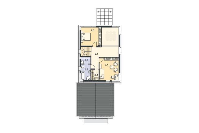Zobacz powiększenie rzutu kondygnacji Piętro - projekt Rennes