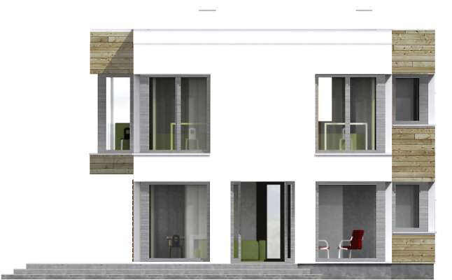 Elewacja ogrodowa - projekt Aarhus