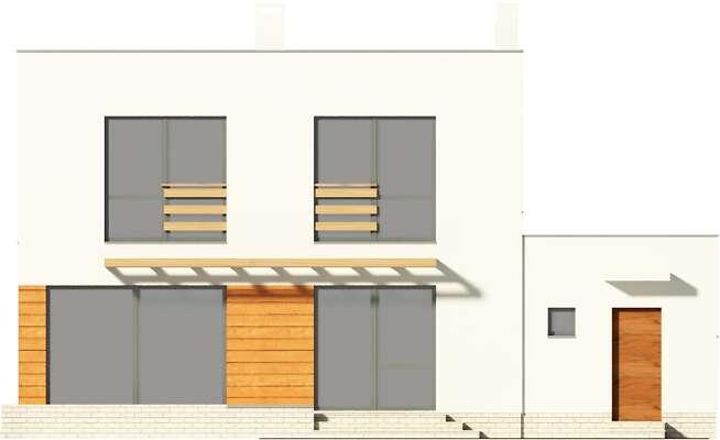 Elewacja ogrodowa - projekt Edynburg II