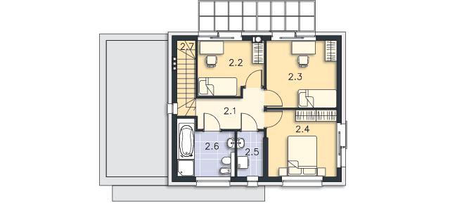 Rzut kondygnacji Piętro - projekt Edynburg II