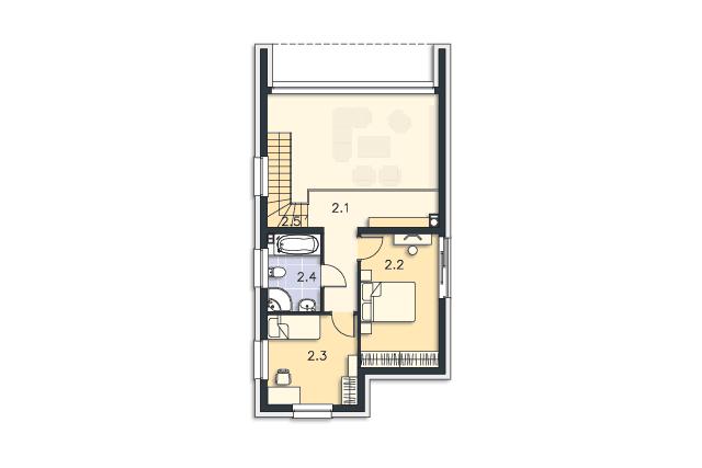 Zobacz powiększenie rzutu kondygnacji Piętro - projekt Delft