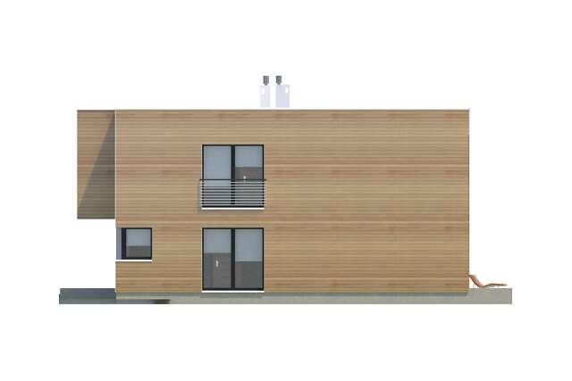 Zobacz powiększenie elewacji bocznej prawej - projekt Delft