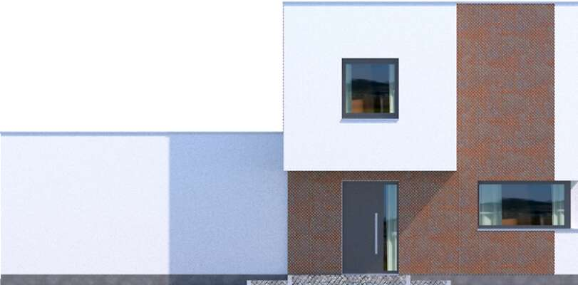 Elewacja frontowa - projekt Delft IV