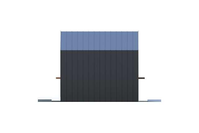 Zobacz powiększenie elewacji bocznej lewej - projekt Temerin