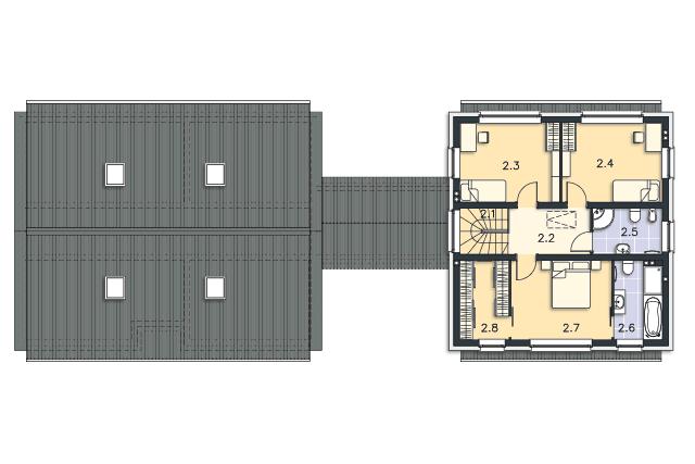 Zobacz powiększenie rzutu kondygnacji Piętro - projekt Odense