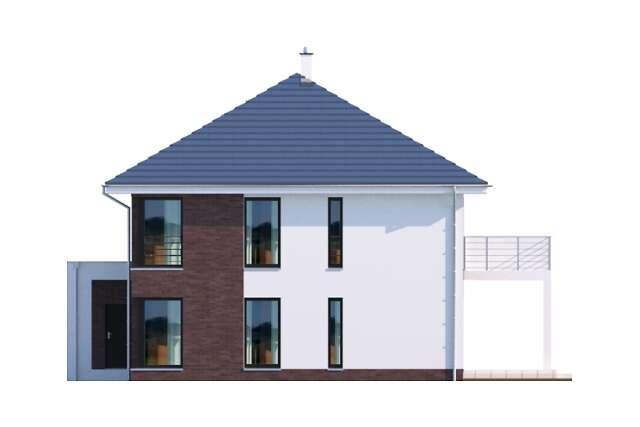 Zobacz powiększenie elewacji bocznej prawej - projekt Carrara II