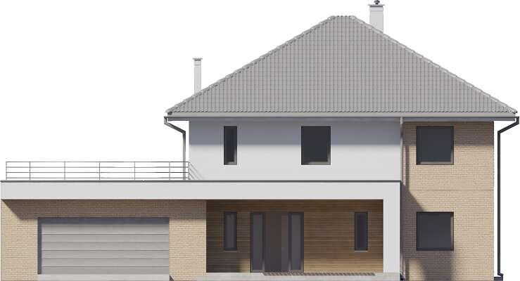 Elewacja frontowa - projekt Carrara III