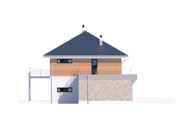 Zobacz powiększenie elewacji bocznej lewej - projekt Carrara IV