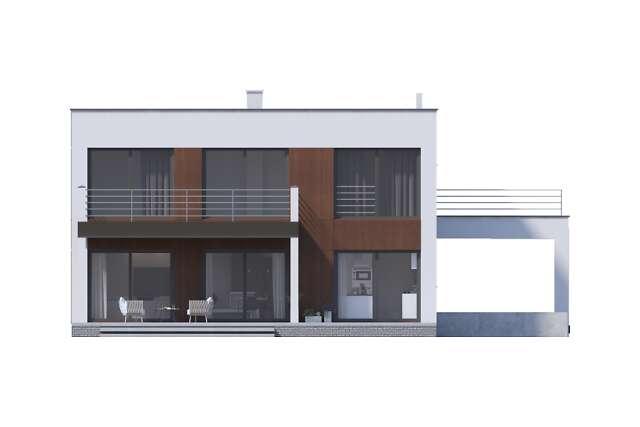 Zobacz powiększenie elewacji ogrodowej - projekt Carrara V