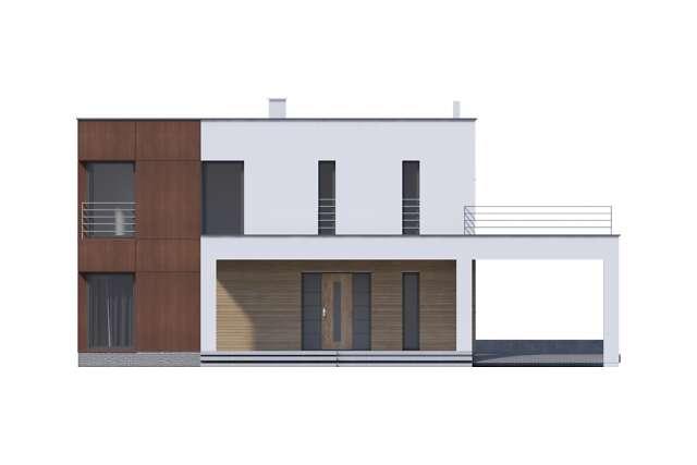 Zobacz powiększenie elewacji frontowej - projekt Carrara V