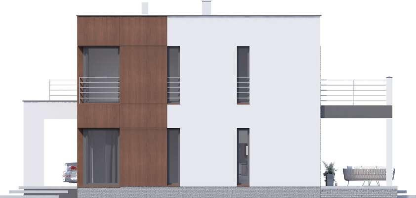 Elewacja boczna prawa - projekt Carrara V