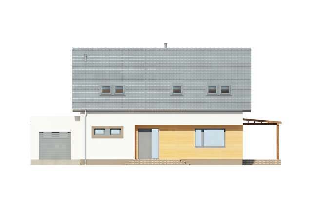 Zobacz powiększenie elewacji frontowej - projekt Fulton