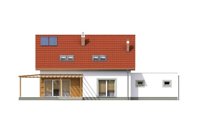 Zobacz powiększenie elewacji ogrodowej - projekt Fulton III