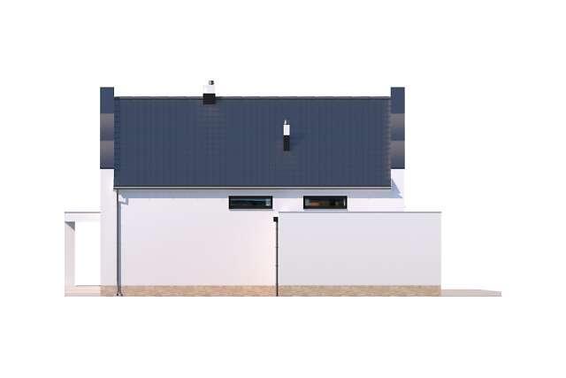 Zobacz powiększenie elewacji bocznej lewej - projekt Bergamo II