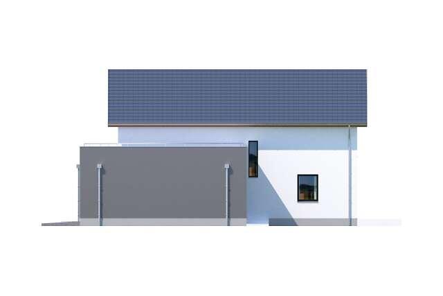 Zobacz powiększenie elewacji bocznej prawej - projekt Bergamo III