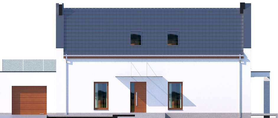 Elewacja frontowa - projekt Bergamo IV