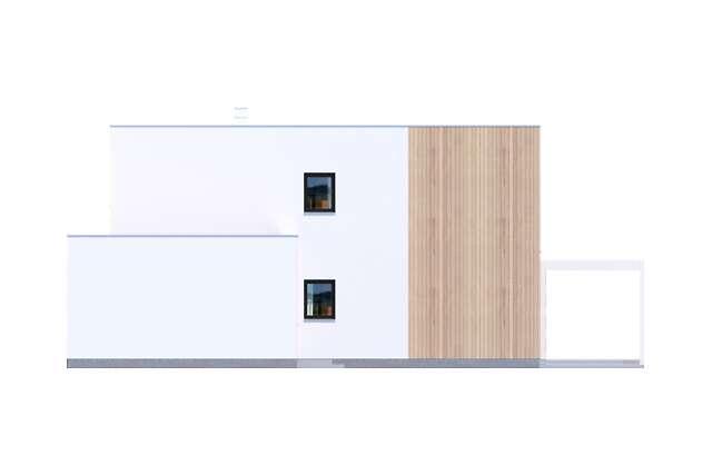Zobacz powiększenie elewacji bocznej prawej - projekt Grenoble