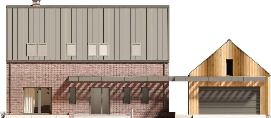 Elewacja frontowa - projekt Lund