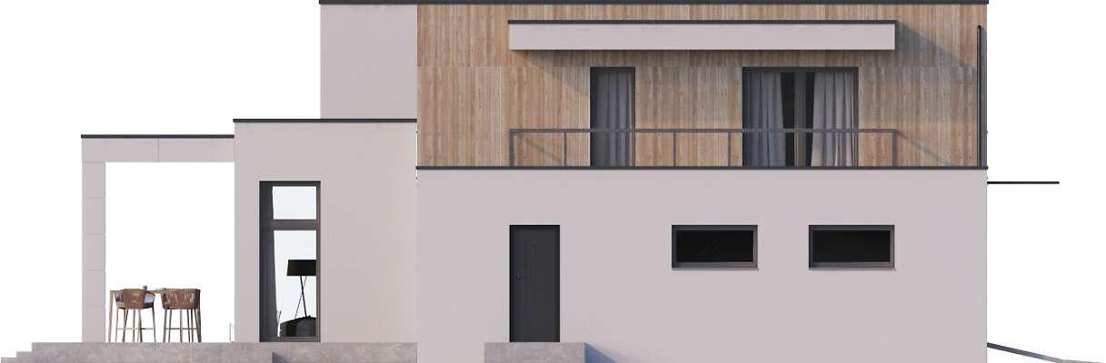 Elewacja frontowa - projekt Santander