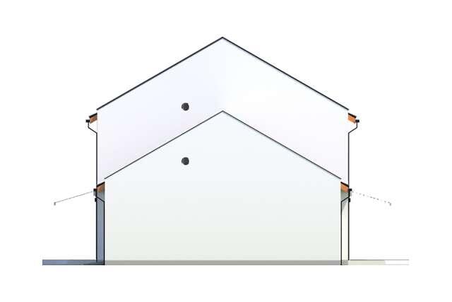 Zobacz powiększenie elewacji bocznej prawej - projekt Skagen II