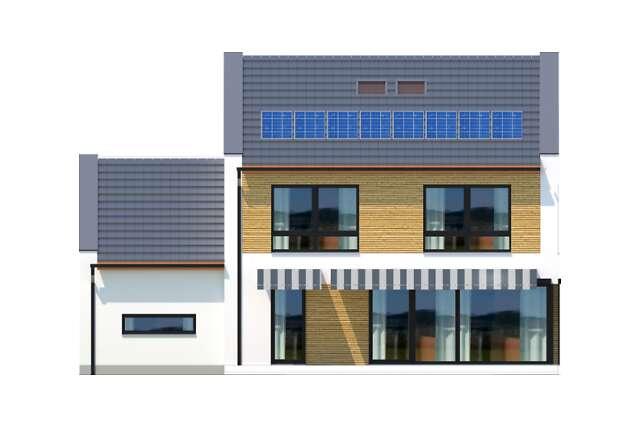 Zobacz powiększenie elewacji ogrodowej - projekt Skagen II