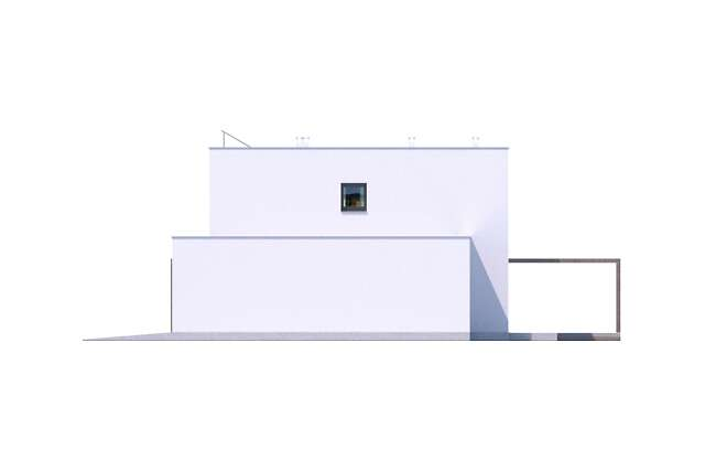 Zobacz powiększenie elewacji bocznej prawej - projekt Koge III