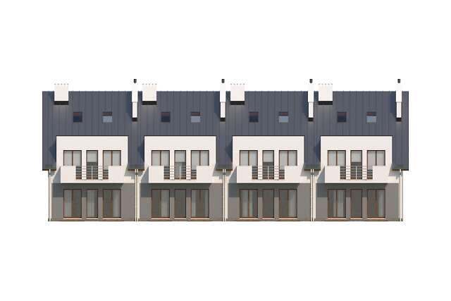 Zobacz powiększenie elewacji ogrodowej - projekt Almere