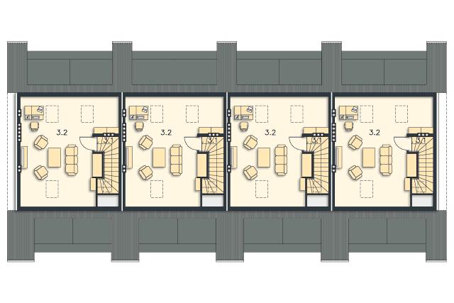 Zobacz powiększenie rzutu kondygnacji Studio - projekt Almere