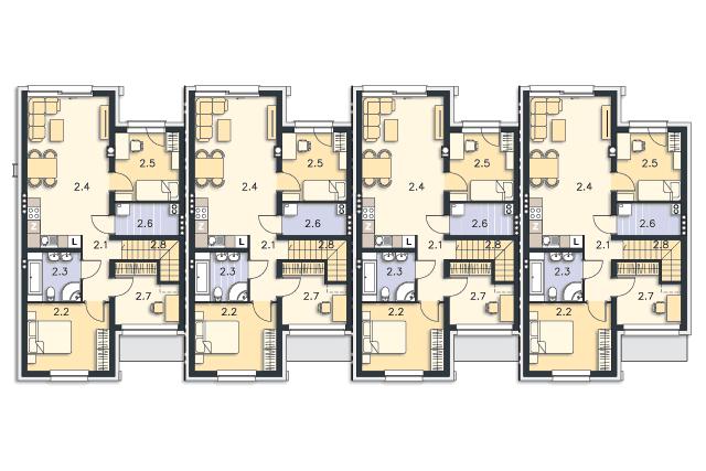 Zobacz powiększenie rzutu kondygnacji Piętro - projekt Springfield II